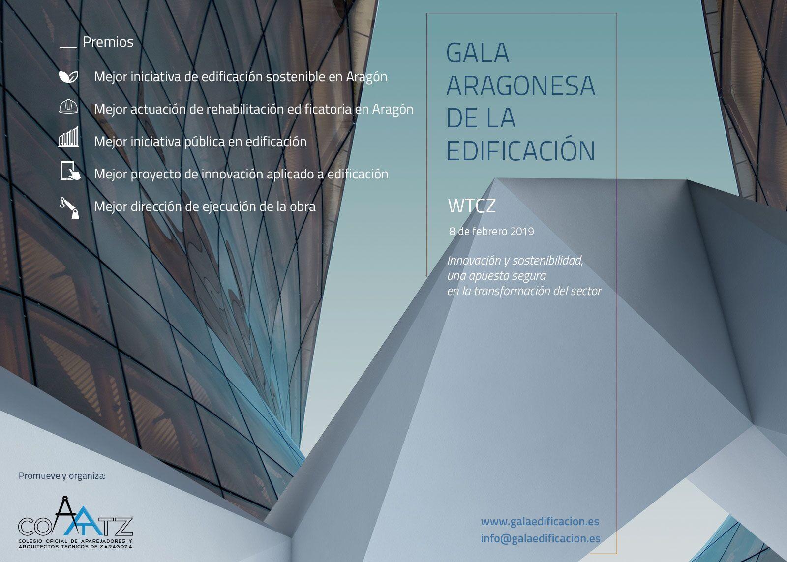 """Alrededor de medio centenar de candidatos optan a los """"Premios a la Edificación Aragonesa"""""""