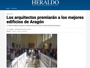 Los arquitectos técnicos premiarán a los mejores edificios de Aragón