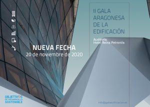Nueva fecha II GALA ARAGONESA DE LA EDIFICACIÓN