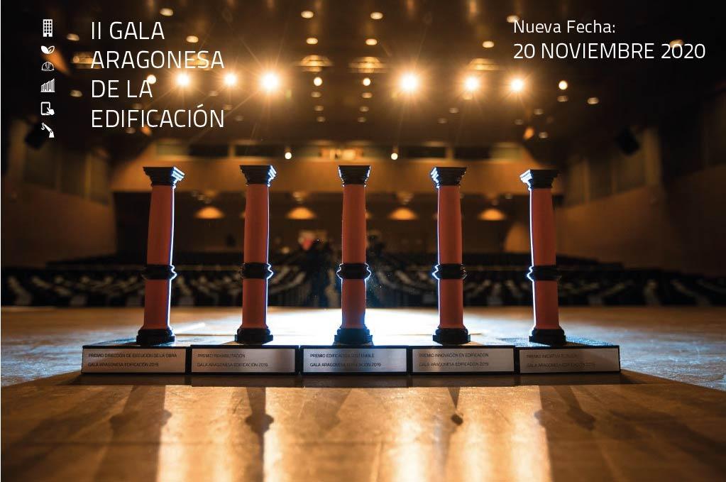 II GALA ARAGONESA DE LA EDIFICACIÓN: NUEVAS FECHAS