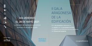 Nuevas fechas II Gala Aragonesa de la Edificación.