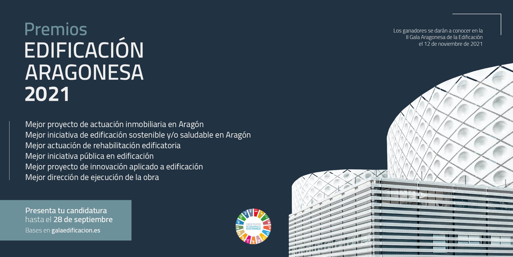Periódico de Aragón: El 28 de septiembre finaliza el plazo para presentar las candidaturas a los Premios a la Edificación Aragonesa 2021